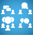 Sillhiuettes of talking people collection vector image vector image
