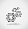 Sketched gears vector image