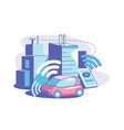smart connected city vector image vector image