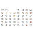 stop virus outline colored iconset part 3 vector image vector image