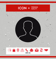 symbol of user icon in circle profile icon vector image
