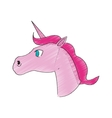 unicorn horse icon vector image