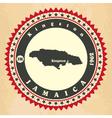 vintage label-sticker cards jamaica vector image