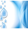 water drop wallpaper vector image vector image
