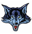 Wolf Head Mascot vector image vector image