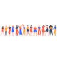 women friendship group diverse female team vector image vector image