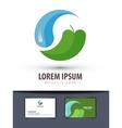 ecology logo design template environment vector image
