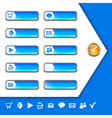 Internet Icons and buttons vector image