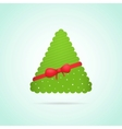 Modern abstract christmas tree background vector image
