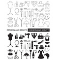 icons of fashion and beauty vector image