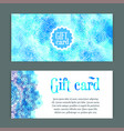 template gift cards ornament vector image