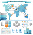air summer travel infographic concept vector image vector image