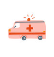 ambulance car emergency medical van cartoon vector image