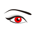 Beautiful red eyes vector image vector image