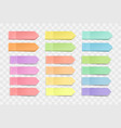 bright sticky notes pack stickers vector image