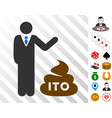 businessman show ito shit icon with bonus vector image vector image