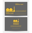 Card construction industry vector image vector image