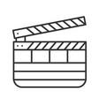 clapperboard linear icon vector image vector image
