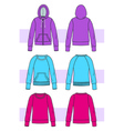 clothes for yoing woman vector image vector image
