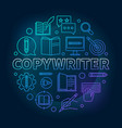 copywriter blue round in line vector image vector image
