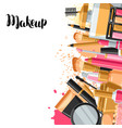 cosmetics for skincare and makeup background for vector image