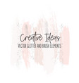 creative modern brush strokes in pinky gold vector image vector image