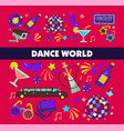 dance world color flat glamor celebration vector image