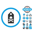 Death Mark Flat Icon with Bonus vector image vector image