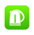 electric kettle icon digital green vector image vector image