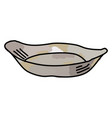 empty dish on white background vector image vector image