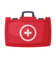 first aid kit red bag for medical equipment and vector image vector image