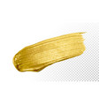 gold color paint brush banner acrylic golden vector image vector image