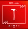 hammer symbol icon vector image