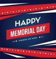happy memorial day background card vector image vector image