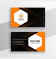 hexagonal shape black and orange yellow business vector image vector image