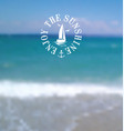 hot summer blurred background 2 vector image