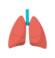 Human lungs cartoon icon vector image vector image
