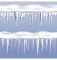 Icicles Tileable Borders Set vector image