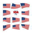 independence and memorial day background set of vector image