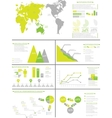 INFOGRAPHIC DEMOGRAPHICS 8 YELLOW vector image vector image