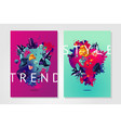 inspiration trendy poster presentation cover vector image vector image