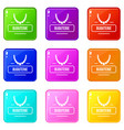 jewelry bijouterie icons set 9 color collection vector image vector image