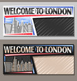 layouts for london vector image