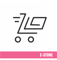 Lines icon basket shop vector image