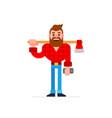 lumberjack cartoon vector image