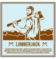 Lumberjack woodcutter poster vector image