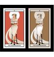 major arcana tarot cards high priestess vector image vector image