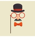 mask gentleman hat and glasses mustache bowtie vector image