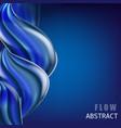 modern fluid gradient colorful flow composition vector image
