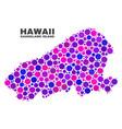 mosaic kahoolawe island map of spheric dots vector image vector image